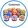 Birthday Gift Russian Matryoshka Wooden Stacking Dolls
