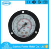 40mm Black Steel Case Pressure Gauge with Flange