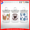 Wholesale Modern Canister Decal Candy Glass Jar