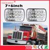 7X6 Inch 45W Sealed Beam Rectangular LED Truck Jeep Headlights H4 Plug
