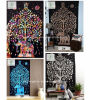 Hot Sell Indian Mandala Tapestry with Elephant Printed Yoga Mat Mural