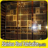 Customized Made Stainless Steel Wine Display Cabinet Stand Display Rack