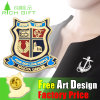Wholesale Custom Fashion Clothing Metal Badge Flag Paper Lapel Pin