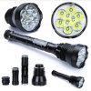 Rechargeable 9 LED Xml T6 11000lm 5 Mode High Power LED Aluminum Flashlight