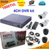 4 Channel Standalone DVR Kit with CMOS 1000tvl Camera