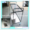 High Quality Two Layers Chroming Wheel Barrow Mobile Trolley