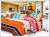 Printed Poly/Cotton Full Fitted Bedspread Patchwork Bedding Set