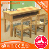 Kids Study Table Solid Wood Table Chair for Two People