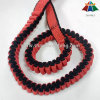 2cm Polypropylene Red-Black Striped Elastic Webbing for Pet Leashes