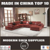 Modern Style U Shape Corner Sofa with Real Leather (LZ-129)