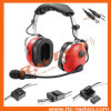 Anr Aviation Red Headset Noise Canceling for General Aircraft