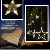 Safety LED 12 Big Star Curtain Light Fairy Light for Indoor Decoration