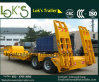 3 Axles Lowbed Semi Trailer Twin Tyre