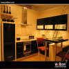 2016 Welbom Dark Black Glass Kitchen Cabinet Customized