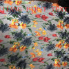 Nylon Rayon Velvet Burn out Fabric with Print