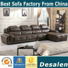 Modern L Shape Genuine Leather Sofa for Home Furniture (882#)