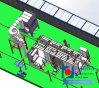 Hanna New Electrostatic Fast Color Change Powder Coating Production Line