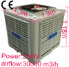 Industrial Evaporative Air Cooler 3 Kw 30000 M3/H