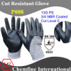 13G PE Knitted Glove with 3/4 NBR Coated/ En388: 4543