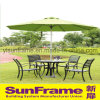 Aluminium Round Wiredrawing Umbrella for Outdoor