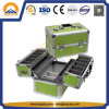Promotional Aluminum Beauty Cosmetic Box with 4 Tray