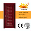 New Design Flush Single Wooden Front Doors Price (SC-W051)