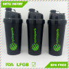 700ml Hot Sale Plastic Shaker Bottle with Two Lid