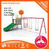 Small Kid Playground Equipment Outdoor Slide and Swing