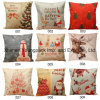 Christmas Home Decorative Cartoon Printed Cotton Linen Pillow Cushion Cover