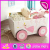 Supply Cheap Fashion Pretty Wooden Toy Box for Storage Book, Multi Functional Decorative Wooden Toy Storage Box W08c126