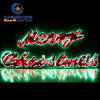 Large 2m LED Merry Christmas Sign Motif LED Green Rope Lights