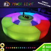 Lounge Furniture Color Changing RGB Lighted Bar LED Semi Circular Bench