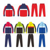Full Zip Colorful Cotton Track Suit Clothing Clothes for Kids