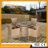 All Weather Modern Aluminum Outdoor/Indoor Double Round Chafing Dish Hot Pot Table Set PE Rattan Fire Pit Furniture