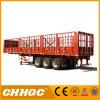 with Short Locks Chhgc 3axle Flat-Type Cargo Stake Semi Trailer