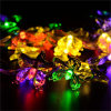 Outdoor Waterproof 20 LEDs Color Changing Decorative Butterfly Solar String Light