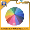 Customized Rainbow Rain Umbrella with Custom Branding for Gift (KU-007)