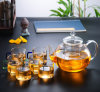 1000/1200 Ml Borosilicate Glass Tea Pot Kettle Set, Teapot Set with Glass Lid and Filter