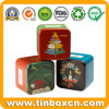 Square Metal Tin Case Watch Tin Box with Smooth Corners