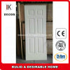 6 Panel Cheap Hollow Core White Primer HDF Moulded Door