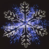 LED Christmas Decorating Large Motif Snowflakes Themed Lights