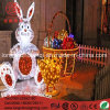 Easter Decoration Light up Chickling and Egg Basket