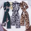 New Leopard Print Scarf Women Scarf Skinny Silk Scarf Small Handle Bag Ribbons Female Neckerchief Head Scarves & Wraps