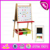 2015 Newest Children Educational Deluxe Easel Toy, Popular Wooden Toy Easel Toy, High Quality DIY Easel with Storage Box W12b015