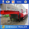 Heavy Construction Equipment Transport 3 Axles 60 Ton Lowbed Trailer