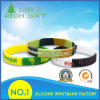 Wholesale Custom Debossed Printing Logo Mixed Color Silicone Wristband Bracelet