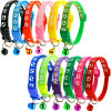 Multi-Colors Nylon Paw Print Adjustable Christmas Cat Dog Collar Bell