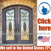 Simple and Modern Style Wholesale Iron Glass of Interior Wrought Iron Door
