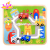 Custom Educational City Car Toy Wooden Maze Puzzle for Kids W11h026