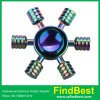 Fs063 Zinc Alloy Rudder Rainbow EDC Fidget Spinner Hand Spinner with Ce Certification